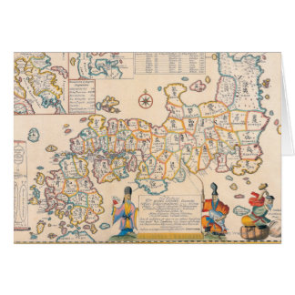 Map of Japan 3 Card
