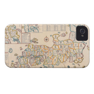 Map of Japan 3 Case-Mate iPhone 4 Case