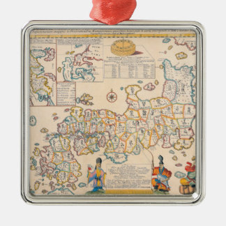 Map of Japan 3 Christmas Ornament