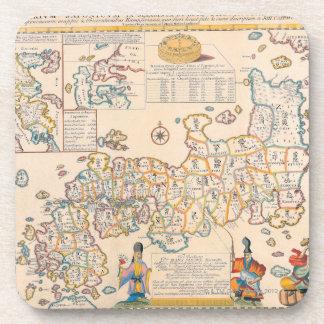 Map of Japan 3 Coaster