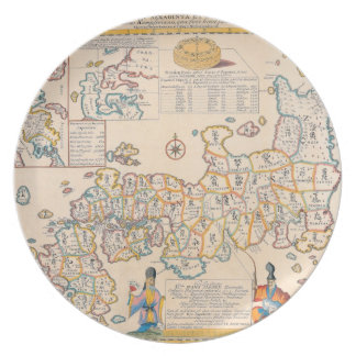 Map of Japan 3 Plate