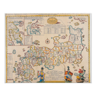 Map of Japan 3 Poster