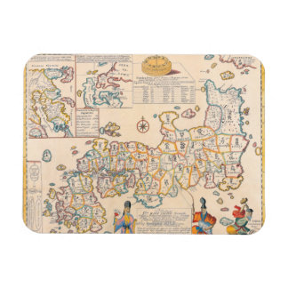 Map of Japan 3 Rectangular Photo Magnet