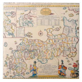 Map of Japan 3 Tile