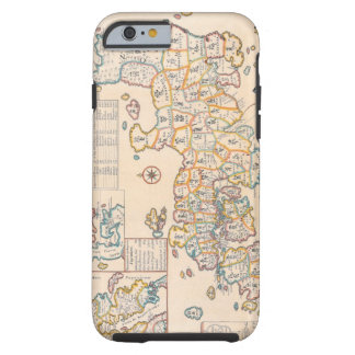 Map of Japan 3 Tough iPhone 6 Case