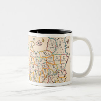 Map of Japan 3 Two-Tone Coffee Mug