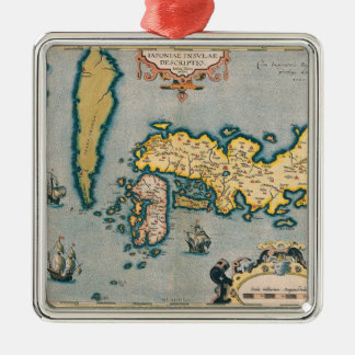 Map of Japan 5 Christmas Ornament