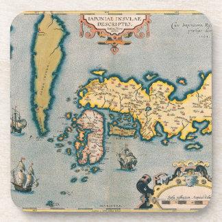 Map of Japan 5 Coaster