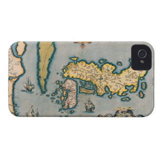Map of Japan 5 iPhone 4 Case-Mate Case
