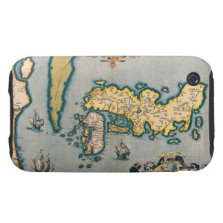 Map of Japan 5 Tough iPhone 3 Covers
