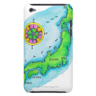 Map of Japan Barely There iPod Cases