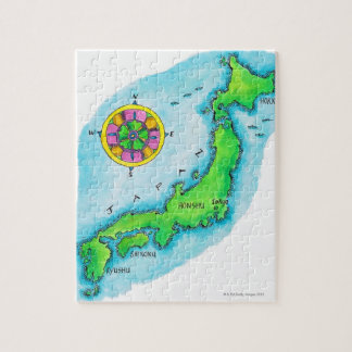 Map of Japan Jigsaw Puzzle