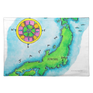 Map of Japan Placemat