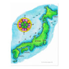 Map of Japan Postcard