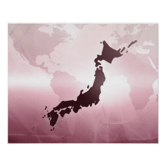 Map of Japan Poster
