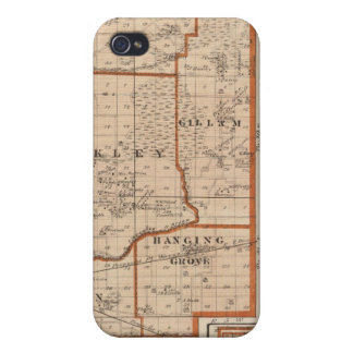 Map of Jasper County iPhone 4 Cover