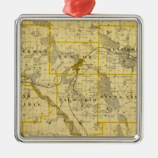 Map of Jasper County, State of Iowa Christmas Ornament