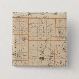 Map of Jay County 15 Cm Square Badge