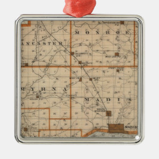 Map of Jefferson County Christmas Ornament