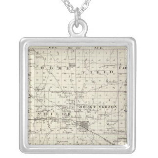 Map of Jefferson County Silver Plated Necklace