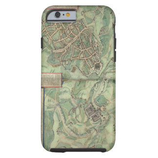 Map of Jerusalem, from 'Civitates Orbis Terrarum' Tough iPhone 6 Case