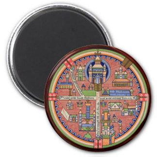 Map of Jerusalem magnet