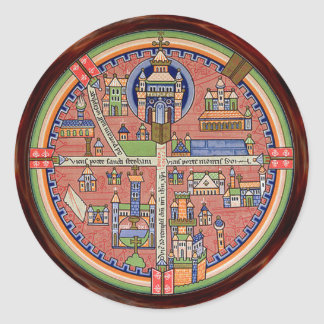 Map of Jerusalem sticker