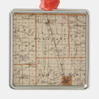 Map of Johnson County Christmas Ornament