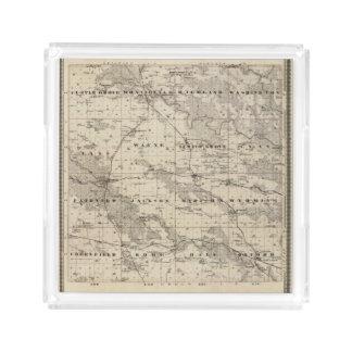 Map of Jones County, State of Iowa