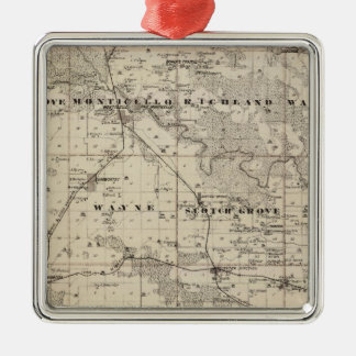 Map of Jones County, State of Iowa Christmas Ornament