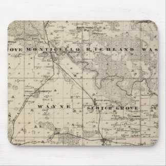 Map of Jones County, State of Iowa Mouse Mat