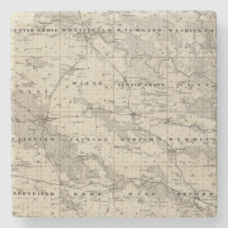 Map of Jones County, State of Iowa Stone Coaster