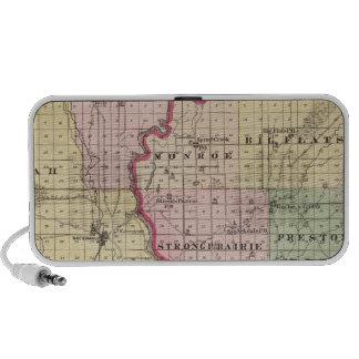 Map of Juneau and Adams counties Travelling Speaker