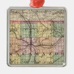 Map of Kalamazoo County, Michigan Christmas Ornament
