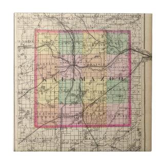 Map of Kalamazoo County, Michigan Tile