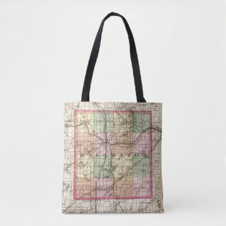 Map of Kalamazoo County, Michigan Tote Bag