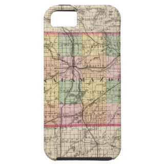 Map of Kalamazoo County, Michigan Tough iPhone 5 Case