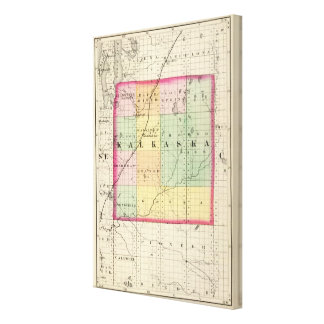Map of Kalkaska County, Michigan Canvas Print