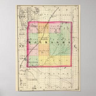 Map of Kalkaska County, Michigan Poster