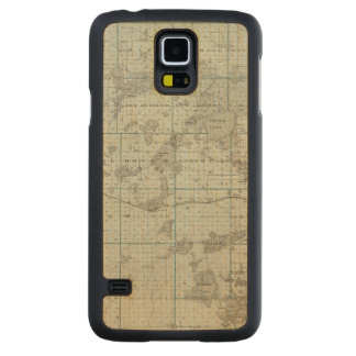 Map of Kandiyohi County, Minnesota Carved Maple Galaxy S5 Case