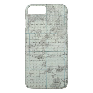 Map of Kandiyohi County, Minnesota iPhone 8 Plus/7 Plus Case