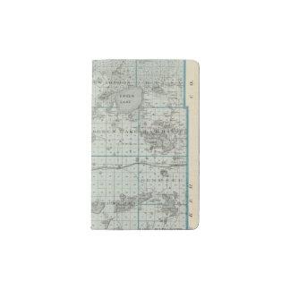 Map of Kandiyohi County, Minnesota Pocket Moleskine Notebook