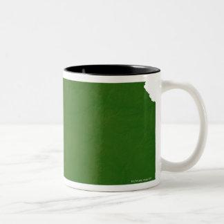 Map of Kansas 2 Two-Tone Coffee Mug