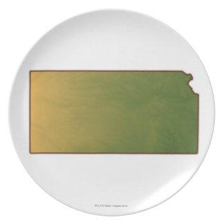 Map of Kansas Plate