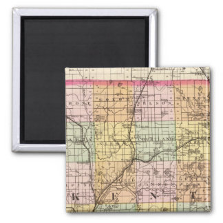 Map of Kent County, Michigan Fridge Magnets