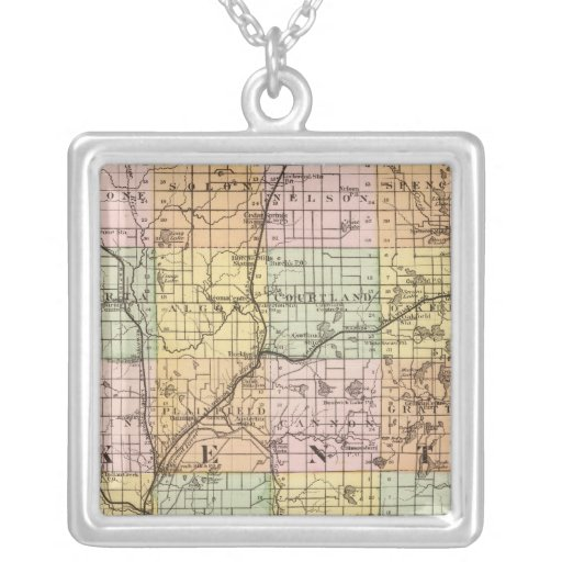 Map of Kent County, Michigan Pendants