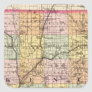 Map of Kent County, Michigan Square Sticker