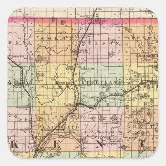 Map of Kent County, Michigan Sticker