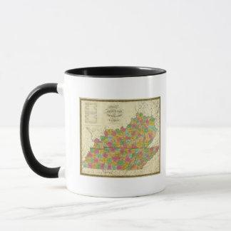 Map of Kentucky and Tennessee Mug