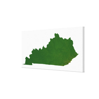 Map of Kentucky Stretched Canvas Print